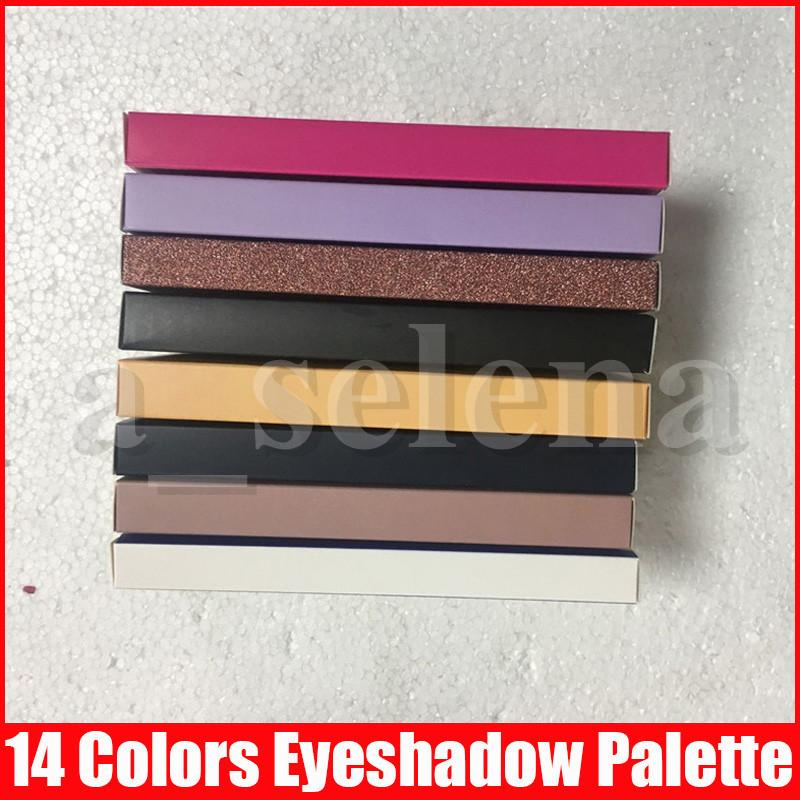 Макияж глаз розового золота Современные Eye Shadow Palette 14 цветов Limited Shimmer Matte Eyeshadow Palette с кисти теней Palette 11 стилей