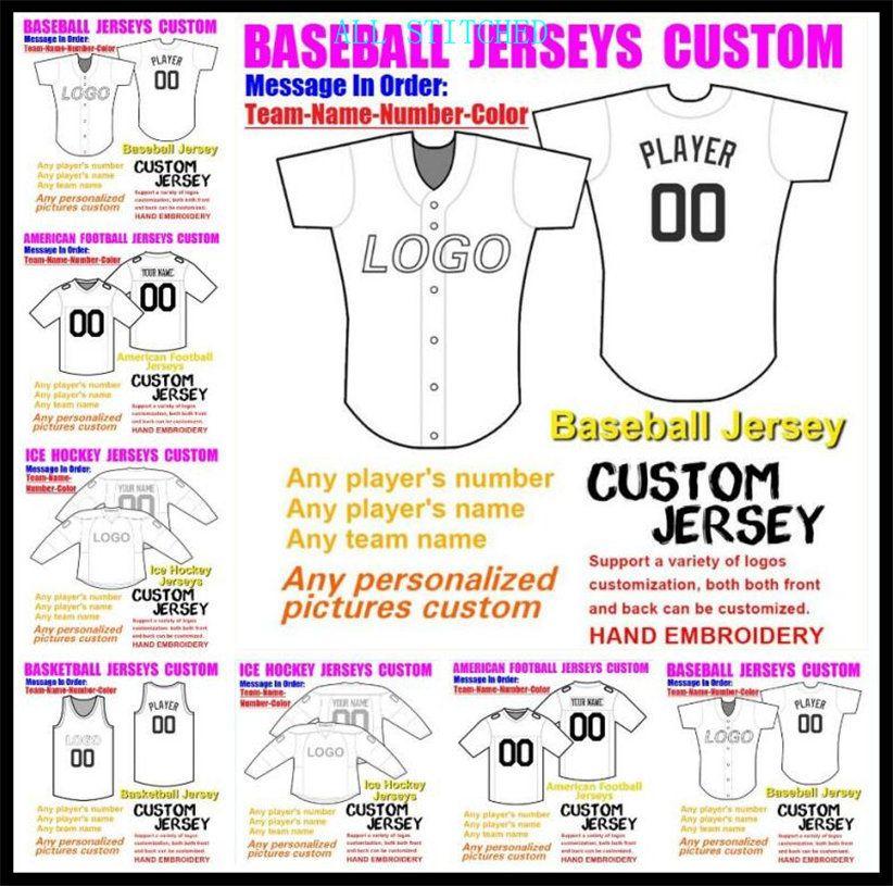Custom Basketball Baseball Ice Hockey Hommes Femmes Enfants Football américain Jerseys Sport Uniformes officiels 2021 Jersey Royal 4XL 5XL 6XL
