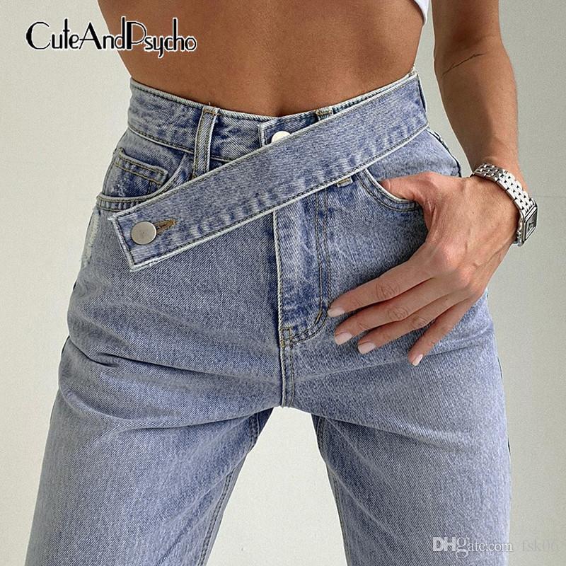 Streetwear stile coreano Y2K Jeans for Women Moda a vita alta Baggy Denim Jeans Harajuku Cargo Pants Joggers Cuteandpsycho