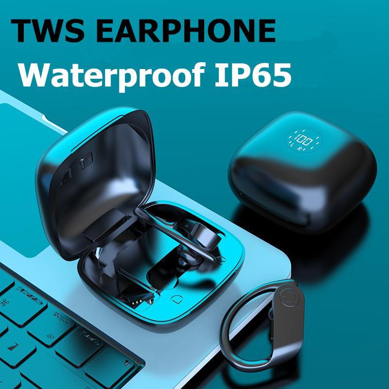 Настоящие беспроводные наушники на ушных крючках Bluetooth стерео беспроводные наушники Sports Sport Control IPX5 водонепроницаемый