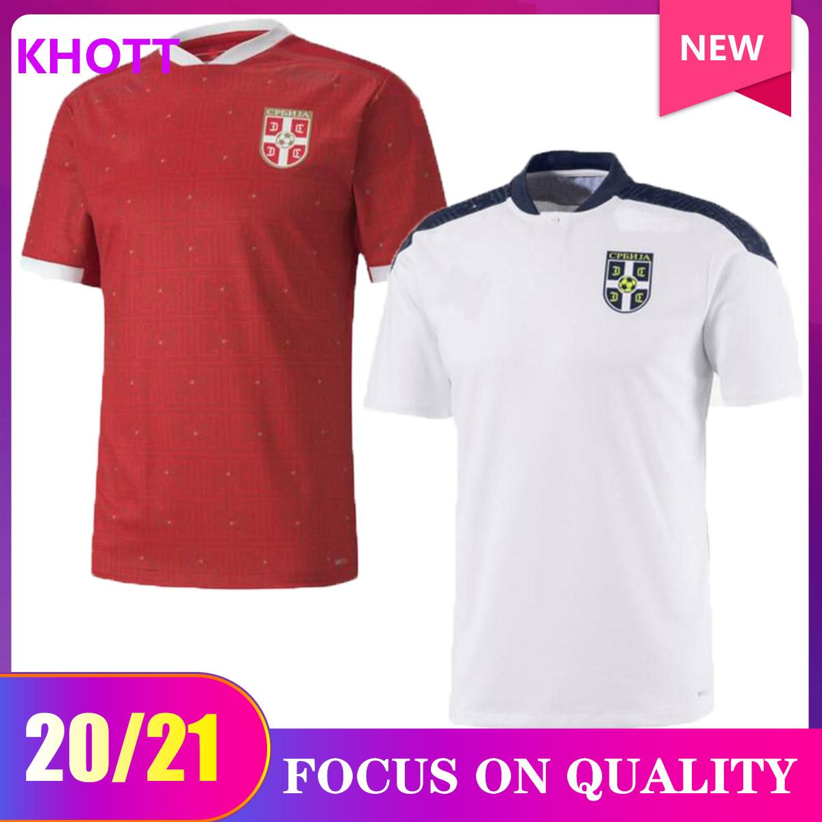 Tailandia 2020 2021 Serbia Home Red Soccer Jersey 20 21 Srbija Away Mitrovic Tadic Kolarov Sergej Matic Kostic Ivanovic Camicia da calcio uniforme