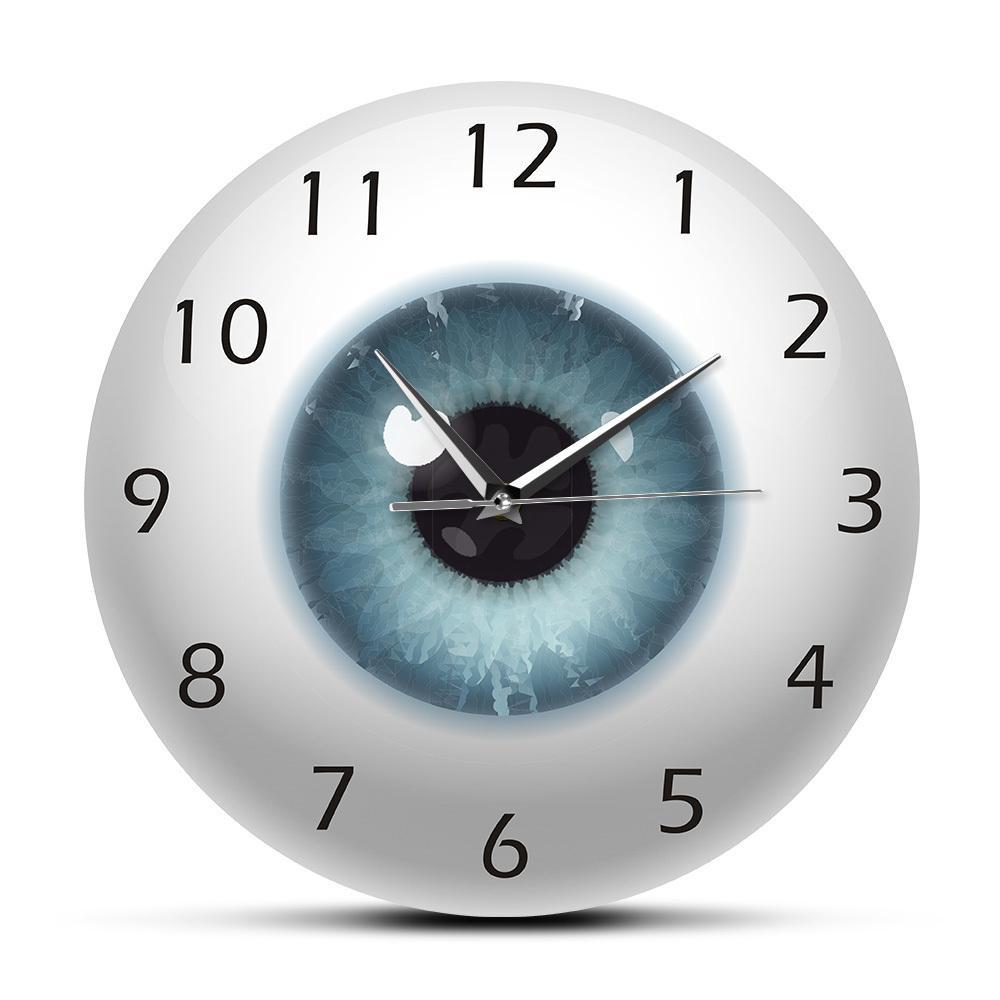 El ojo ocular Pupila Core Vista de la vista Oftalmología Reloj de pared silencioso Todo lo que vea el cuerpo humano Anatomía Novedad Wall Watch Regalo LJ200827