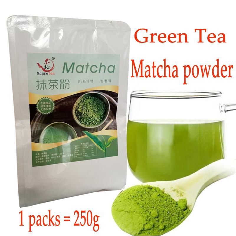 250g Matcha Tea Powder Portable Mini Matchars Vert Thé Poudre Poudre Professionnel Cuisine Sacs Sac à thé