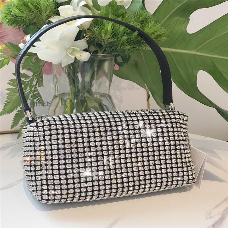 Rhinestone 2021 Nuovo Designer di lusso di alta qualità Tide BAG Full Diamond Diamond Diamond Bag Arear Arear Shoulder Messenger Borsa Female Borsa piccola borsa