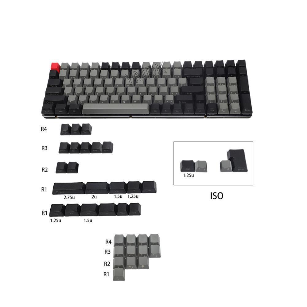 Dolch Laser Eteched Великобритания Итальянская немецкая Испания ISO OEM Профиль Толстый PBT Keycap для MX Mechanical Keyboard YMD96 KBD75 104 87 61 LJ200922