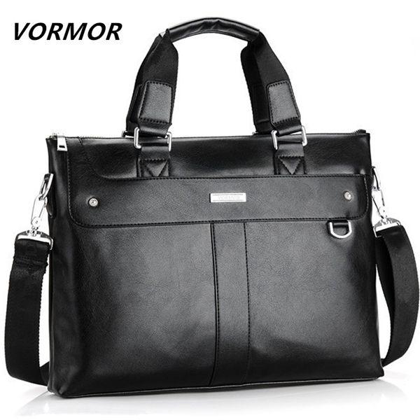 VORMOR 2020 Men Briefcase Business Shoulder Leather Messenger Computer Laptop Handbag Bag Men's Travel Bags Q1104