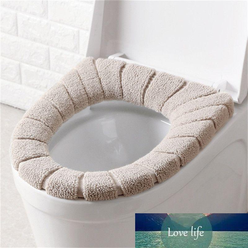 1 Adet Klozet Kapak Yumuşak Rahat Yıkanabilir Kabak Desen Kış Closestool Mat Commode Koltuk Kapak Pad Banyo Decor Isınma