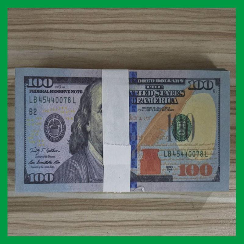 23 Simulación de la versión antigua y nueva 100 USD tiro de moneda juguete apoyos de la práctica estadounidense dólar billetes de banco barra de juego