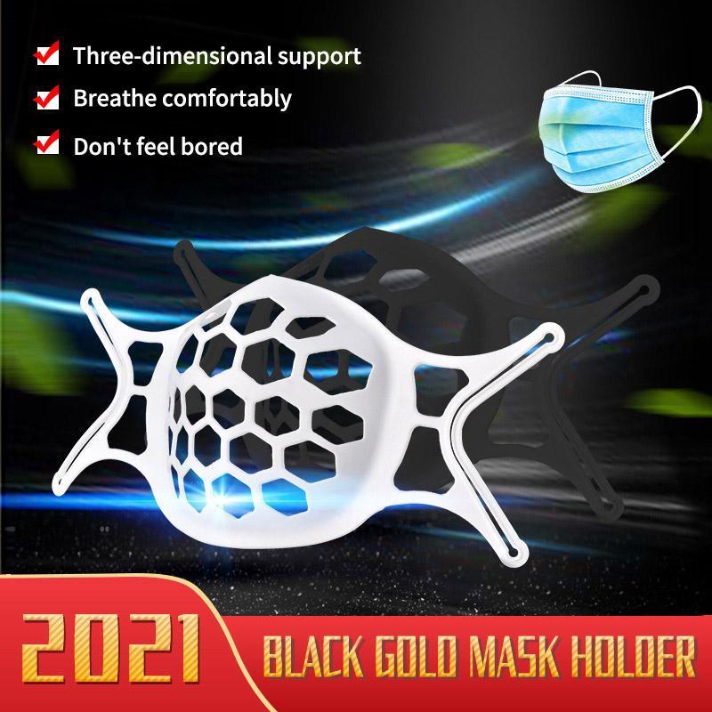 Più nuovo 3D maschera maschera Staffa di rossetto Protezione del silicone Stand Face Mask Maschera interiore Miglioramento della respirazione Respirazione Smootly Cool Mask Holder Reus
