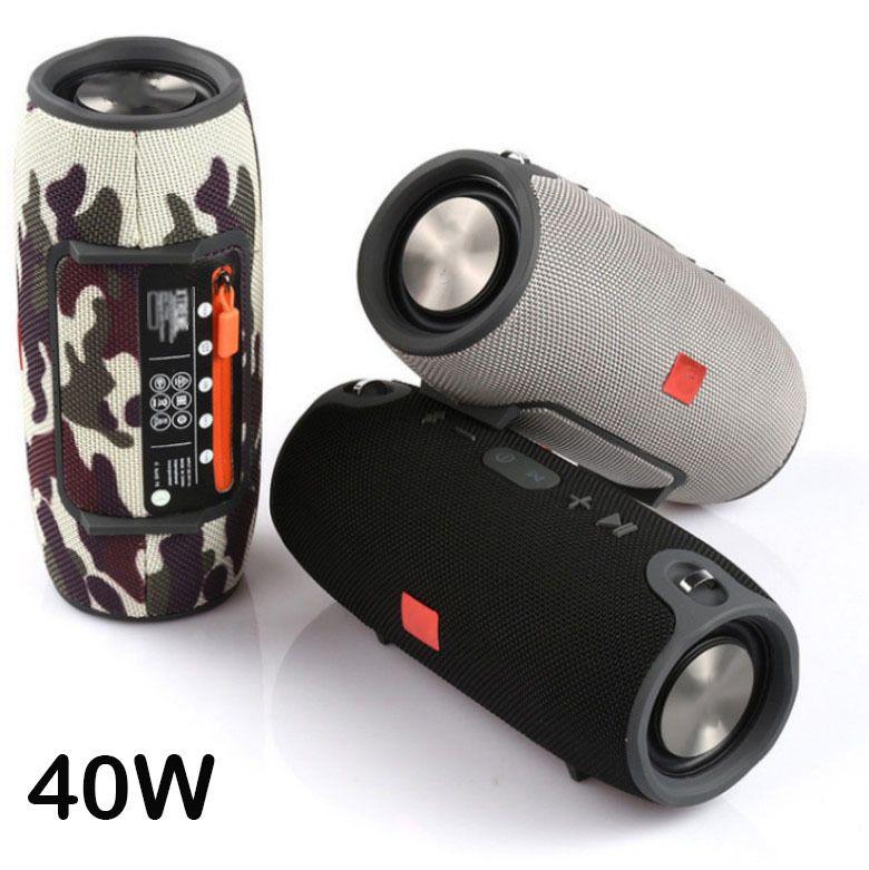 Yüksek Güç Açık Taşınabilir Bluetooth Hoparlör Subwoofer Soundbar Kablosuz Bas Sütun Su Geçirmez Hoparlör AUX TF USB LJ201027 destekler