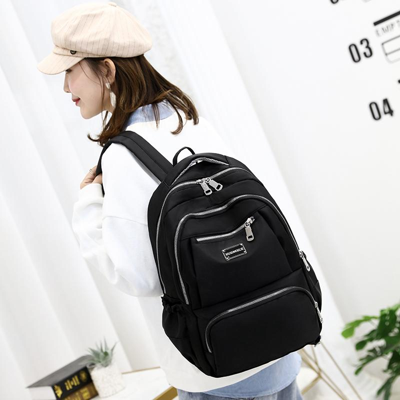 New Trend Female Waterproof Women Backpack Solid Color Travel Shoulder Bags Student Youth School Bag For Teenager Girls Q1113