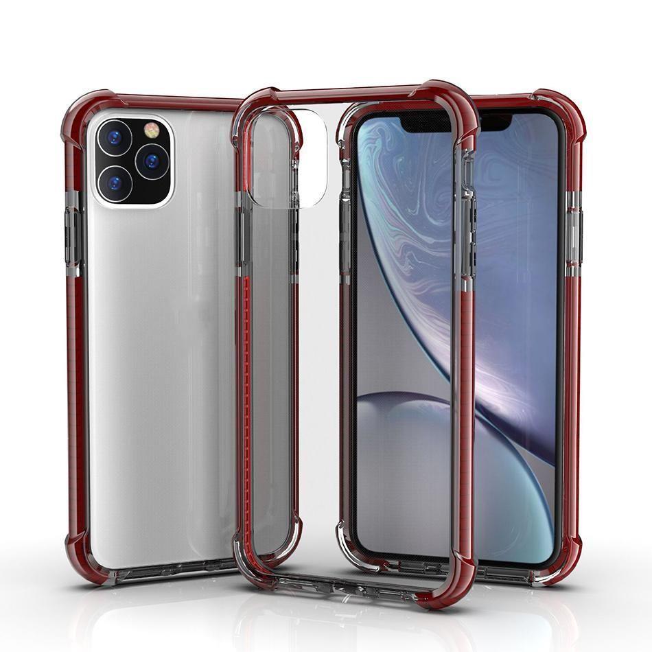 Shockproof hybrid tpu iPhone 12 Pro Max 11 Pro XS Max XR 7 8 Plus 용 투명한 아크릴 하드 백 케이스 투명
