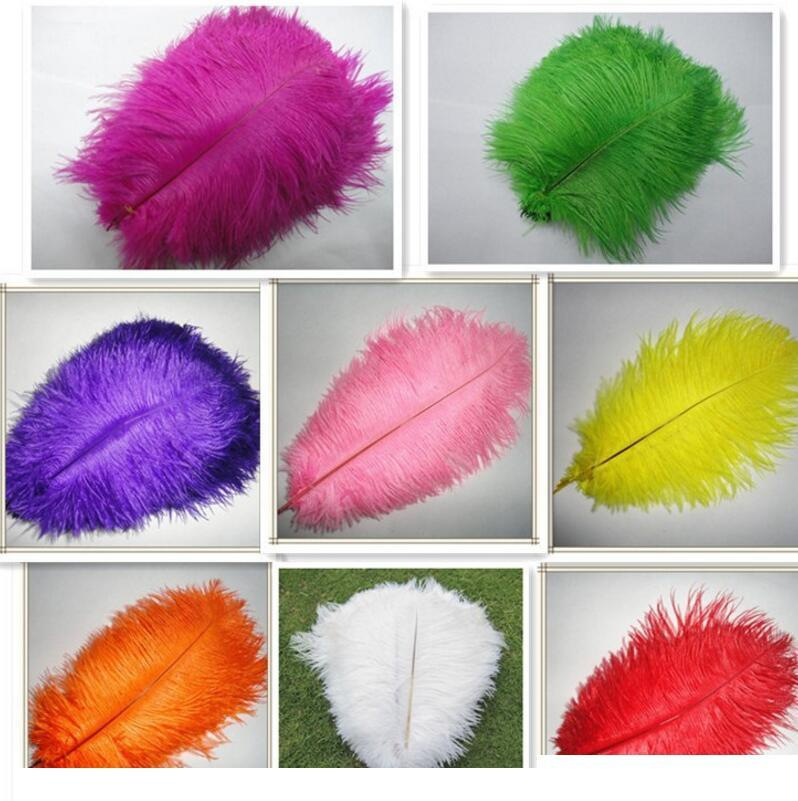30-35cm plumas de avestruz hermosas para la joyería del arte de DIY que hace la fiesta decoración de la boda Accesorios de boda Decoración