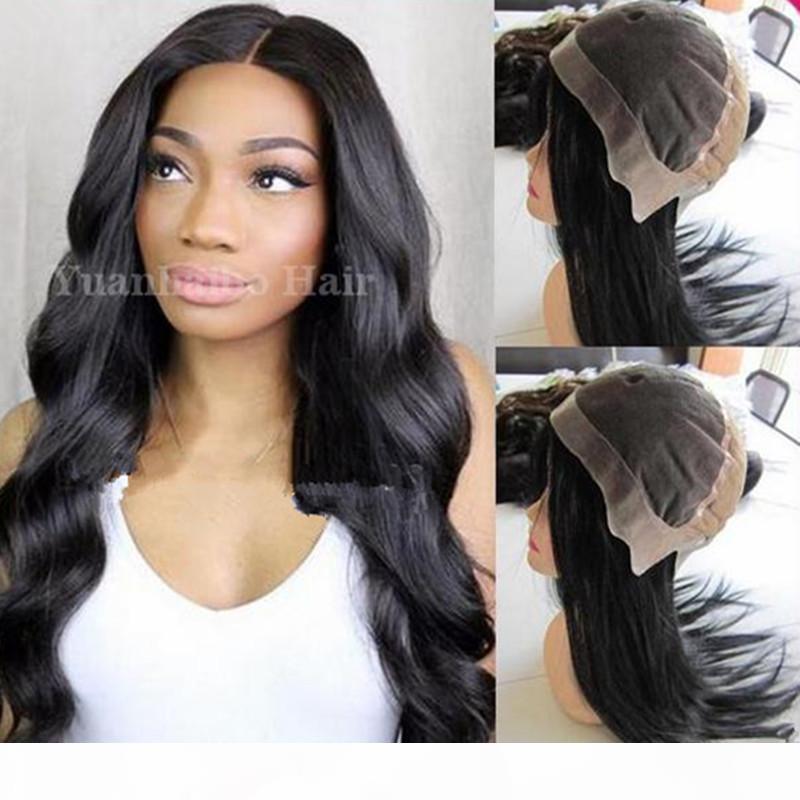Bester Verkauf 1b Lose Welle Virgin Brasilianisches Haar Volle Spitzeperücke mit dünner Haut um den Umfang geben Verschiffen frei