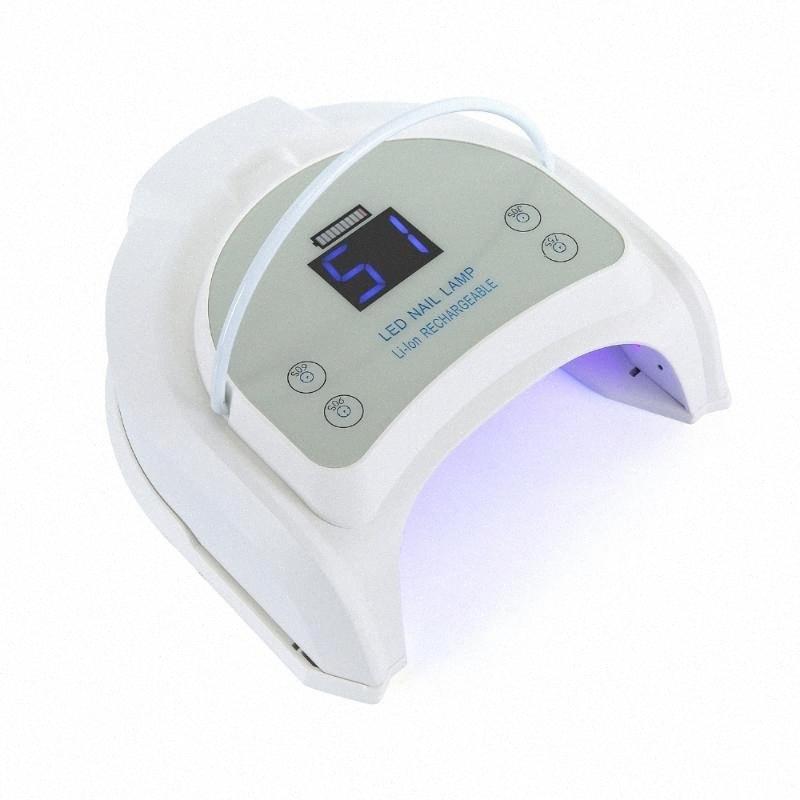64W Batterie Abnehmbare Wireless-LED Nagel Lampe schnurlose wiederaufladbare LED-Nageltrockner QlqJ #