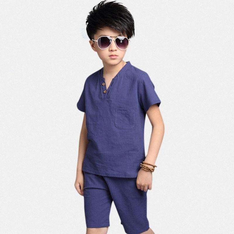 Erkekler 2020 Çocuk Giyim için Yaz Erkek Giyim Seti Katı Giyim Takım Elbise Bahar FWUP # Casual Çocuk Kostüm