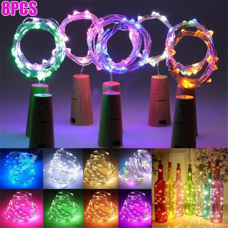 2M 20LEDs البسيطة LED أضواء عطلة سلسلة مايكرو مصباح للماء الزفاف في الأماكن المغلقة ضوء للديكور المنزل عيد الميلاد زجاج كرافت