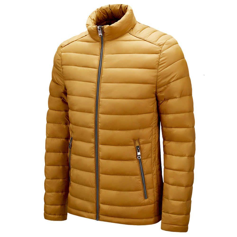 Хлопок мягкий мужчина 2020 новый стойковый воротник куртка легкая молодежная мужская пальто