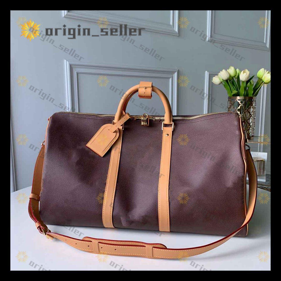 M41414 Çanta Yüksek Kadınlar Duffel Çanta Kapasitesi yüksek kapasiteli bagaj çantası bagaj su geçirmez çanta Gündelik Seyahat Çantaları Seyahat spor çantası