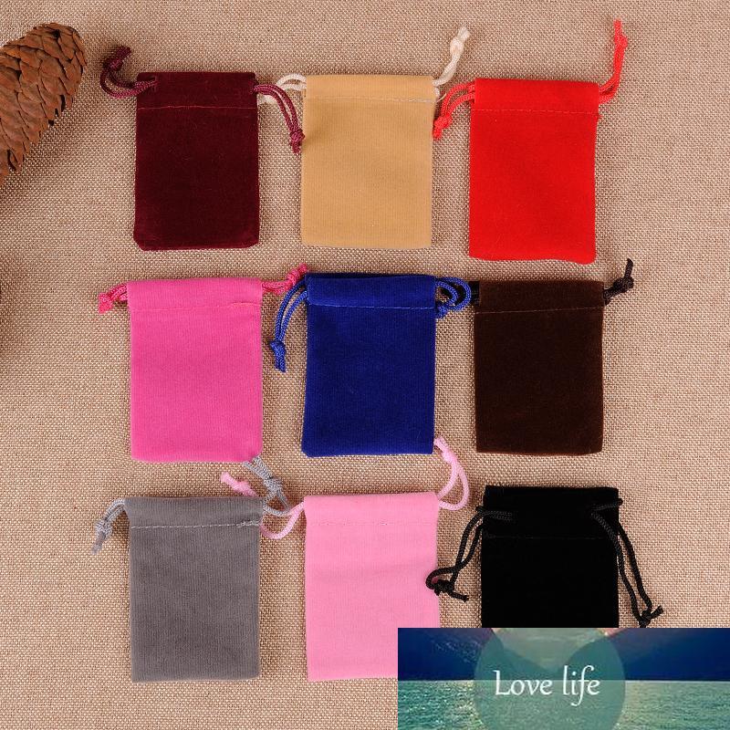 50Pcs 5x7cm Sac velours Pouches petite taille Cordons Bijoux Affichage cadeau Sacs d'emballage de Noël de mariage 88