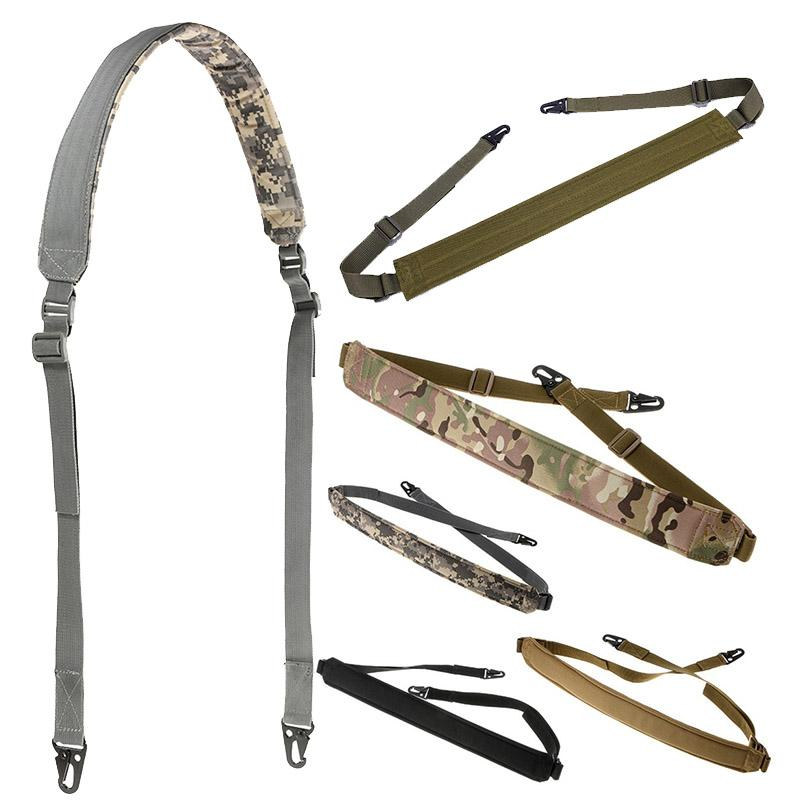 Sport da esterno Shooting Paintball Gear Airsoft Strap Gun Lanyard Due Point Dual Point Quick Stach Tactical Sling Sling Sling No12-017