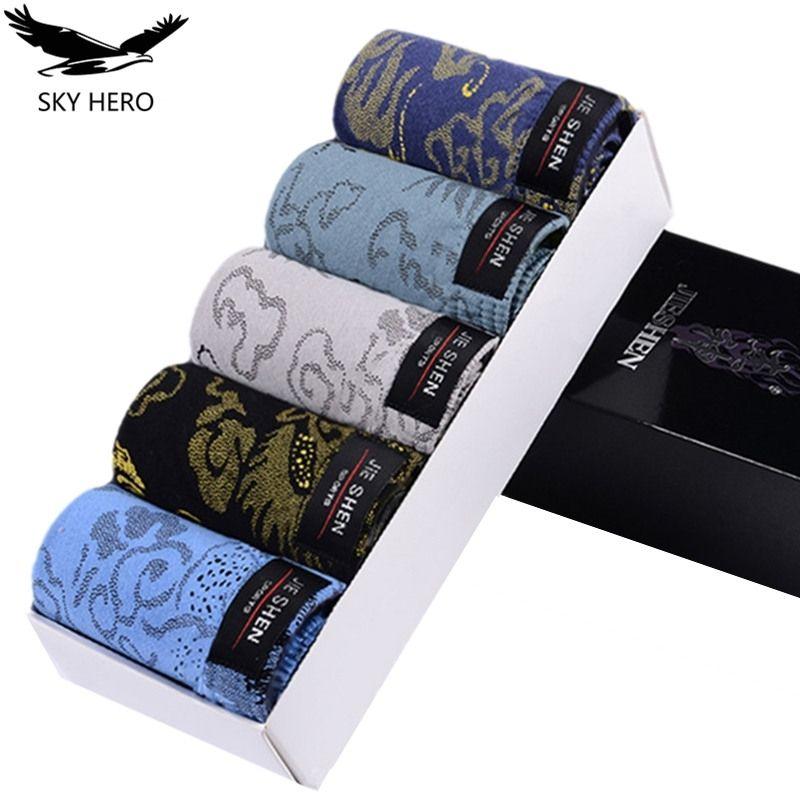 5pcs / Lot 100% algodón para hombre Breves masculina ropa interior masculina Breve Tamaño de los hombres respirables de las bragas de los calzoncillos L / XL / XXL / XXXL / 4XL Plus 201112