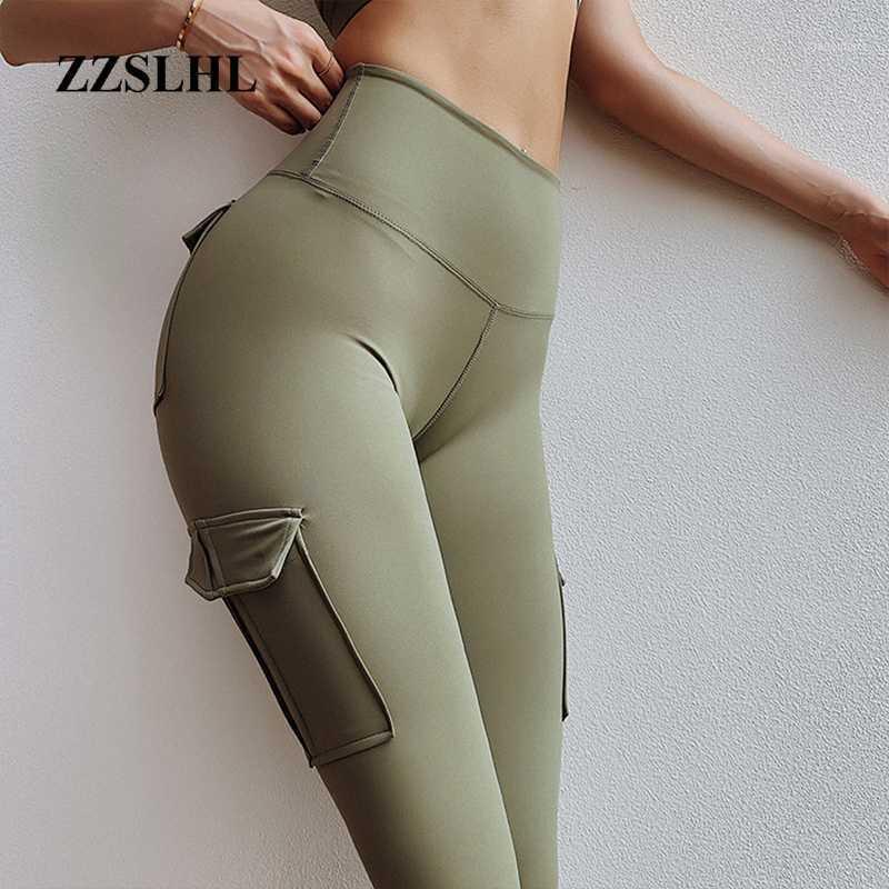 Yoga Kıyafetler Yüksek Bel Tayt Egzersiz Spor Legging ile Cep Scrunch Baloga Pantolon Spor Kadınlar Spor Flex Booty Sweatpants1