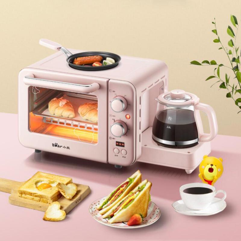 Çok İşlevli Kahvaltı Makinesi Mini Ev Elektrikli Fırın Kek Pişirme Fry Pan Sıcak İçme Pot Ekmek Kızartma ...