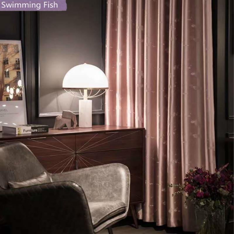 Luxuriöse Blackout Vorhang amerikanischer Jacquard Vorhang Jalousie für Schlafzimmer Wohnzimmer Hotel Deco Fenster Behandlung Drapieren