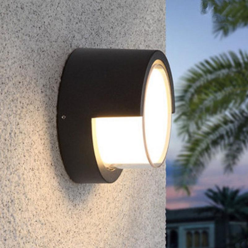 10 واط أدى الجدار مصباح IP65 حديقة الأمن ضوء ماء الألومنيوم الشرفة فناء جدار جبل الشمعدان السرير الإضاءة الديكور