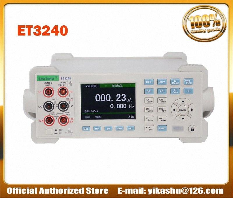 Цветной ЖК-цифровой мультиметр Емкостное сопротивление Частота измерения ET3240 Desktop Instrument DCV ACV DCI ACI KWOb #