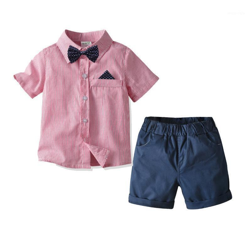 2 3 4 5 6 Years Toddler Boys Sets Casual Striped Short Sleeve Shirt Shorts Summer Baby Kids Clothing 2020 New Arrival Boy 2pcs1