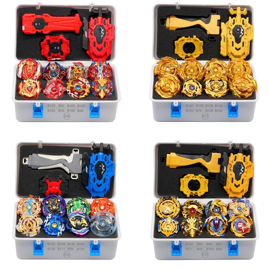 2019 Gold Takara Tomy Launcher BEYBLADE BORRST AREAN Bayblades Bables conjunto caixa bey lâmina brinquedos para criança fusão de metal novo presente 1019