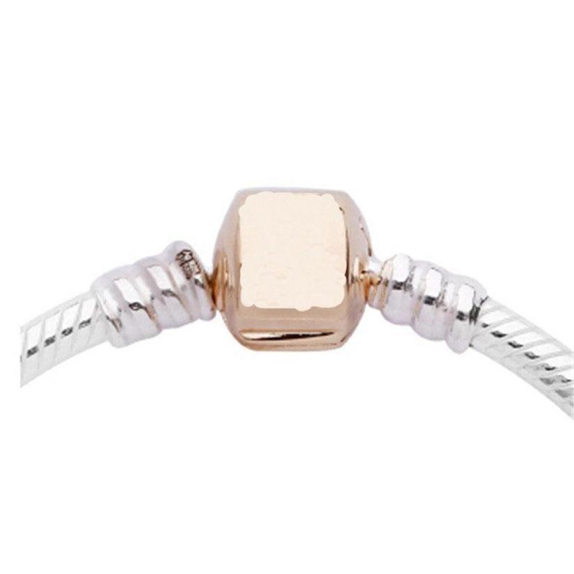 17-21cm Top Marca Mujeres Hombres Cadena Pulsera Charm Silver Brazalete Brazalete DIY Beads Fit Panora Pulsera Sqcwuo Beauty888