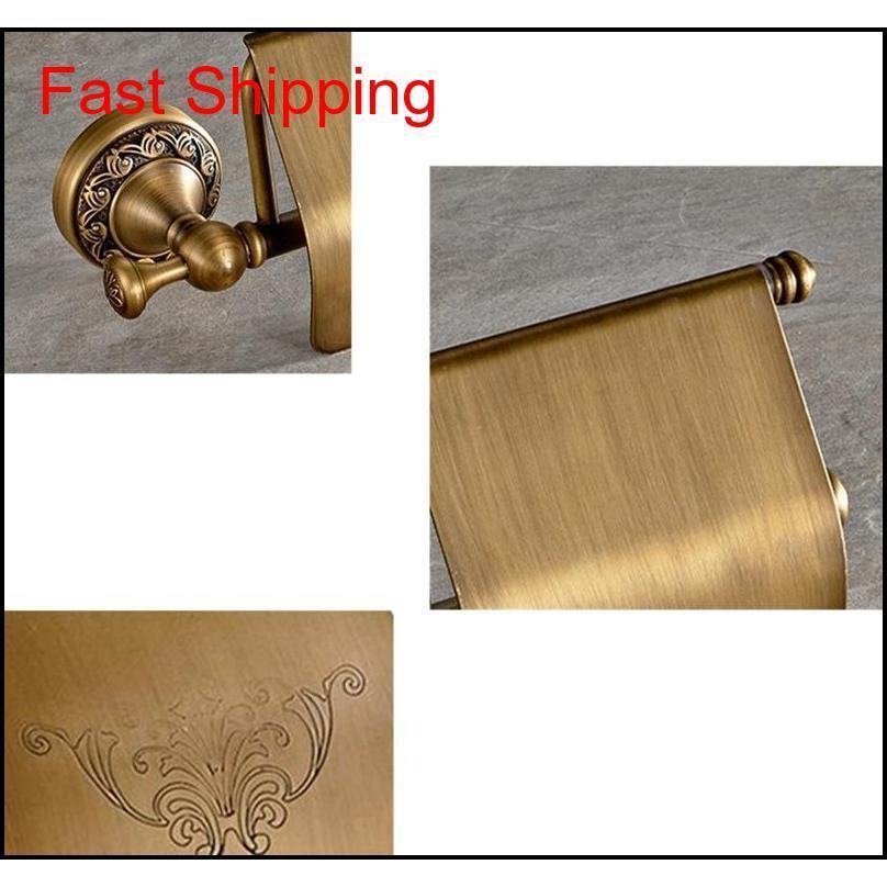 Alta calidad de latón montado en la pared Cuarto de baño Antiguo Taller de papel higiénico Flor Imprimir higiénico Papel higiénico TEJIDO T QYLWFR Toys2010