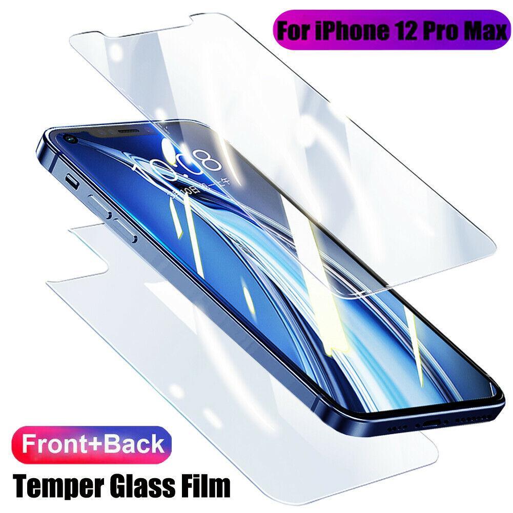 Film en verre trempé pour iPhone X XS XR 11 12 Mini 12 Pro Max avant + arrière Retour Protecteur d'écran anti-Shatter Fullbody Housse de protection