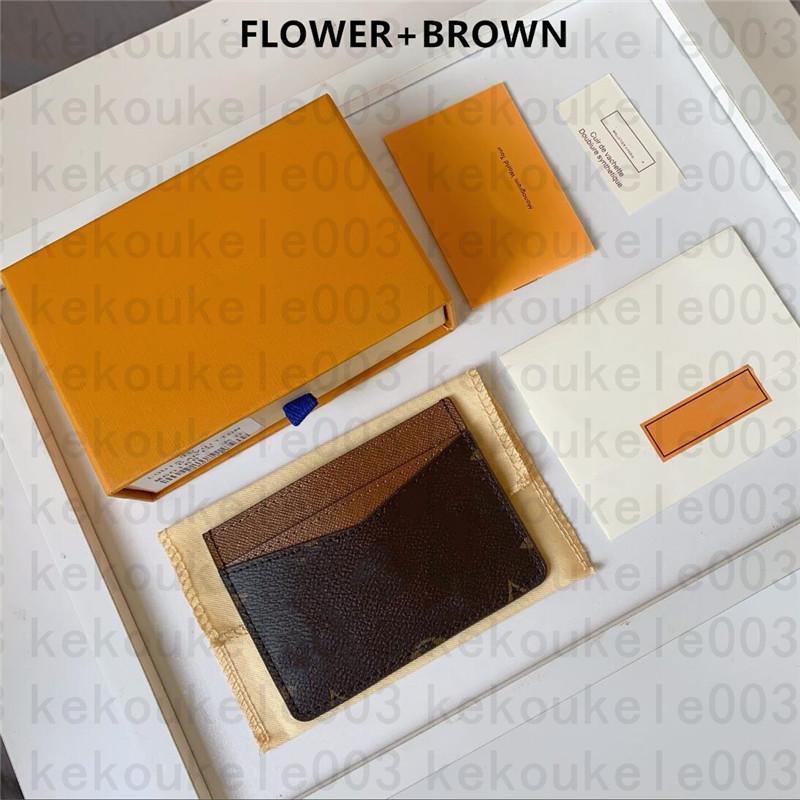 M61733 Fransa Luxurys Tasarımcılar Kadın Erkek Kart Tutucu Mono Gram Tuval Kahverengi Damalı Siyah Ekose Tuval Deri Kutusu ve Toz Torbası