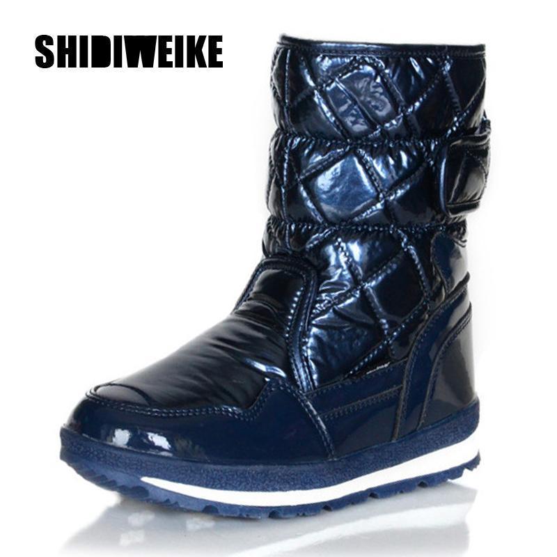 Plus size 34-41 botas de neve para mulheres sapatos gancho loop manter grossas botas de inverno pele de moda tornozelo V196 quente do sexo feminino