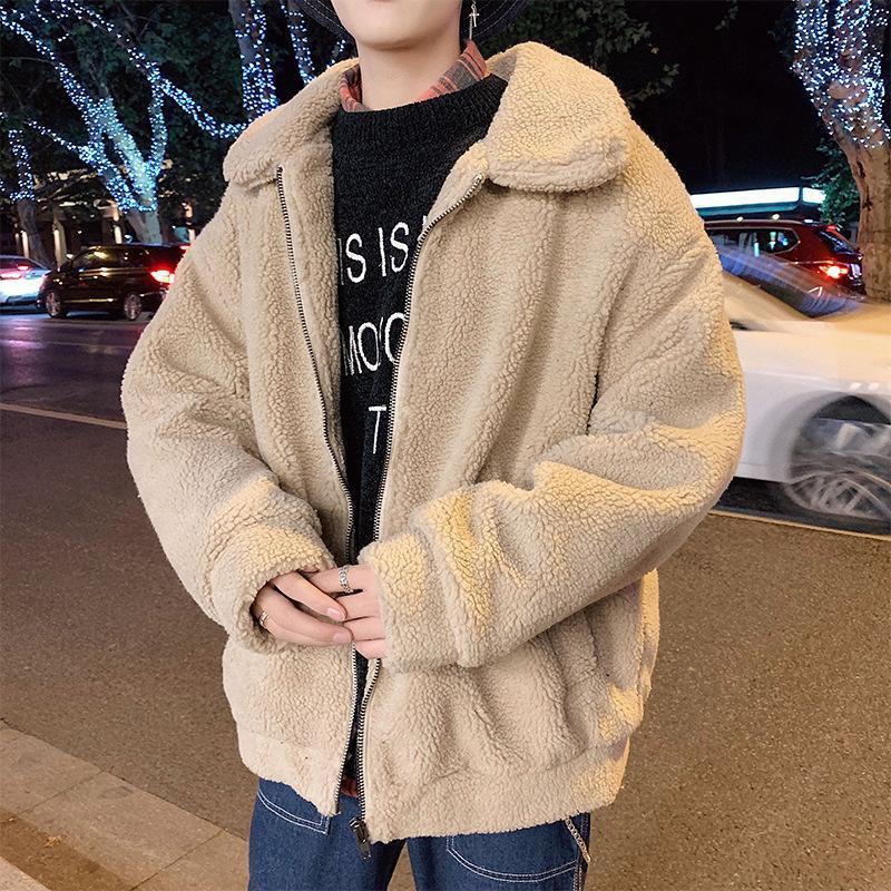 Revestimento dos homens Tide coreano versão do Wool New Inverno além de veludo espessamento Student Cordeiro acolchoado Jacket Jacket algodão homens
