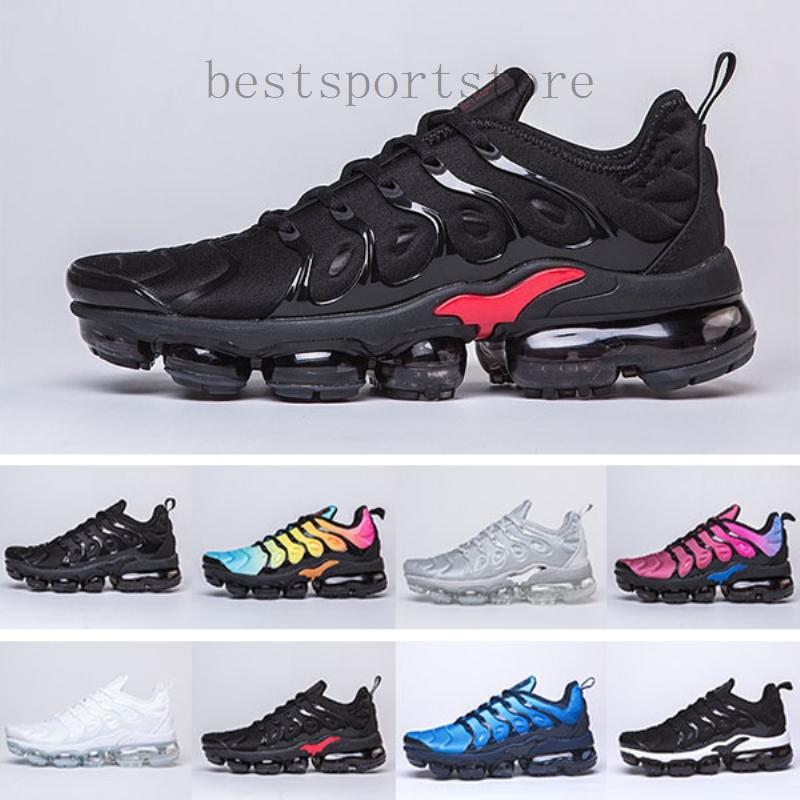 Nike Air vapormax tn plus 2019 Nueva original Tn Plus Moda Zapatos Casual Venta voltios Hyper Violeta Hombres Mujeres Zapatos Triple Diseñador Blanco Rojo Negro Azul Tn DS2DA