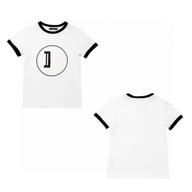Горячие Продажи Детские Футболы 2021 Модные буквы Печатные Мальчики Девушки Tees Топы Унисекс Baby Chidlren Футболки с коротким рукавом