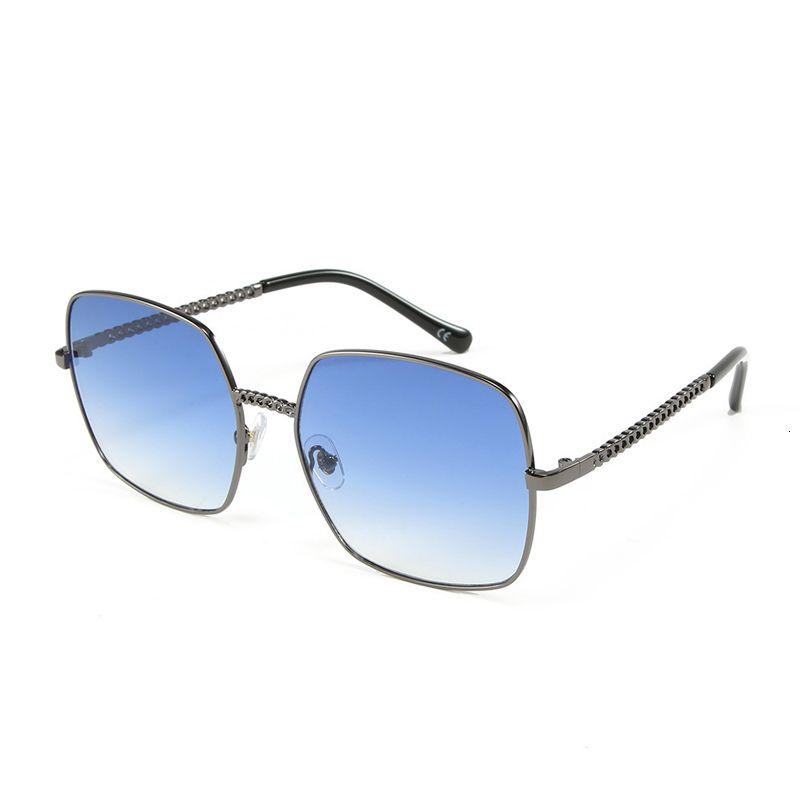 Vintage Quadratische Sonnenbrille Männer Metallrahmen Sonnenbrille für Frauen im Freien Klargläsern Rahmen Shades Oculos Gafas S8067DF