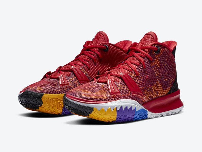 أيقونات Kyrie 7 التمهيدية للحرارة من أحذية الرياضة أطفال للبيع مع أحذية صندوق أفضل رجل جديد إمرأة في الهواء الطلق تجارة المواد الغذائية بالجملة US4-US12