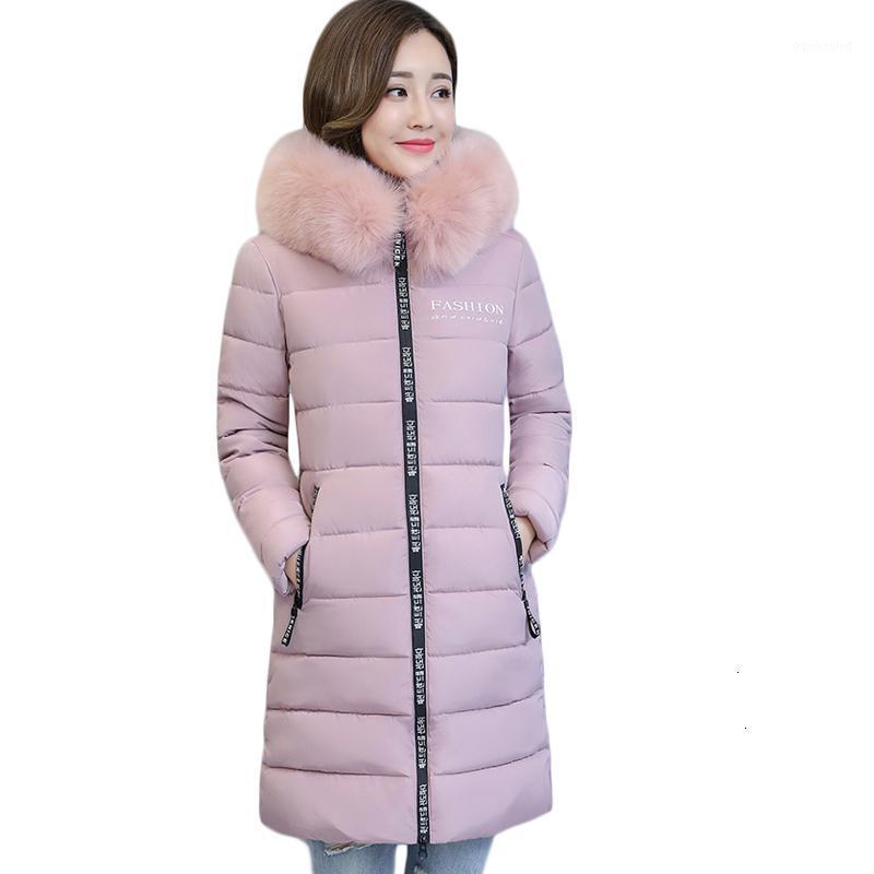 Donne Down Parkas Plus Size 6XL Donne Winter Jas Cape Overwear Overwear Parka Dames Caldo Katoen Jassen Jacket Slim Giacca Donna CM9381