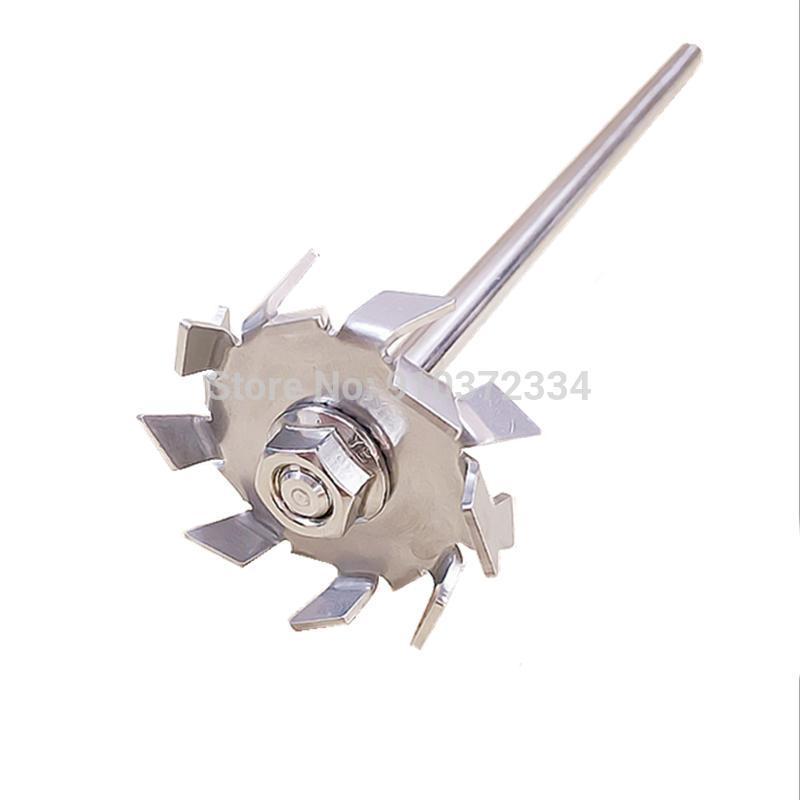 1set Laboratory 304 Agitador de disco de sierra de acero inoxidable, agitador de disco dispersivo con barra de agitación