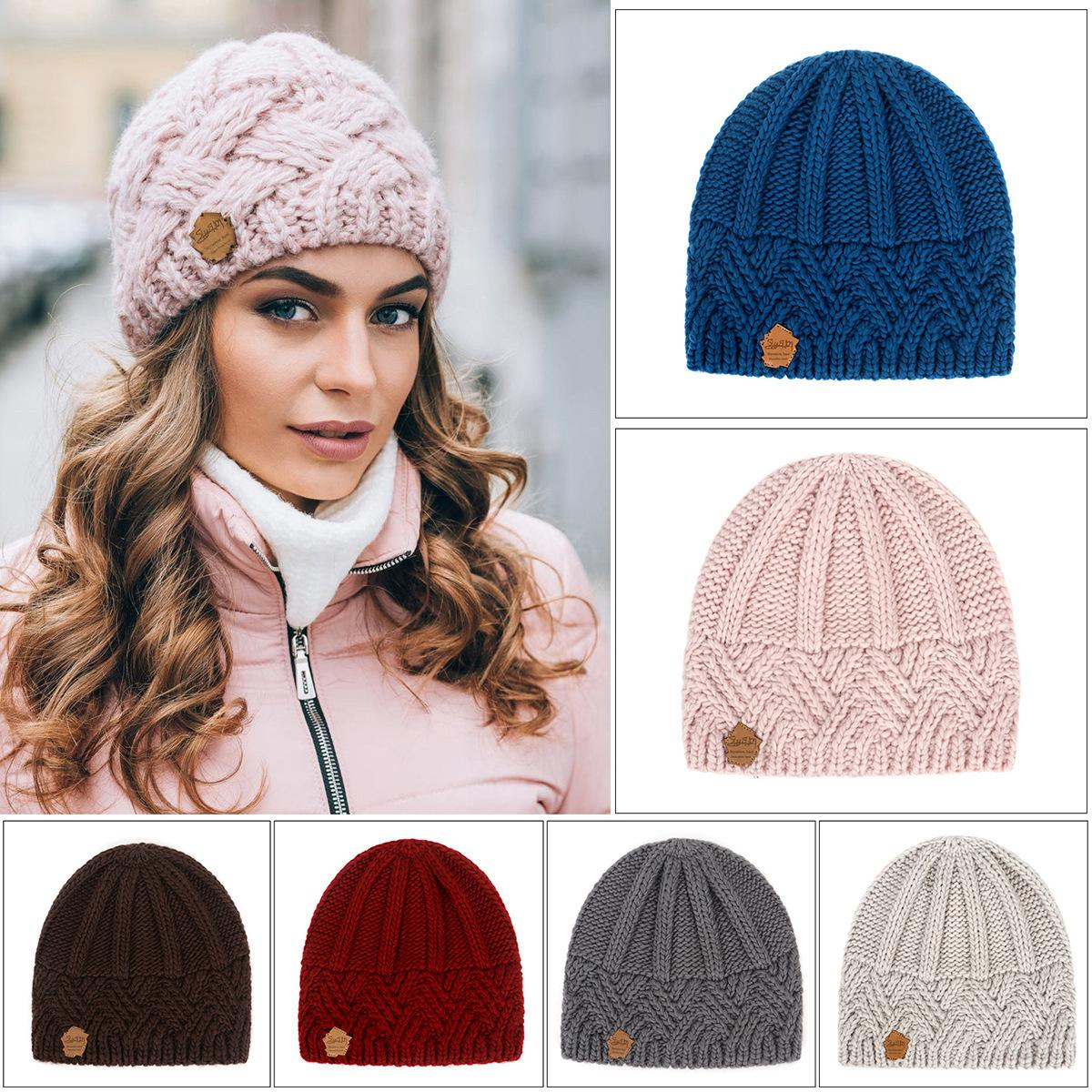 أزياء الرجعية نمط الماس شعرية إبرة سميكة صوف محبوك الرجال والنساء قبعة أزياء الخريف والشتاء قبعة من الصوف