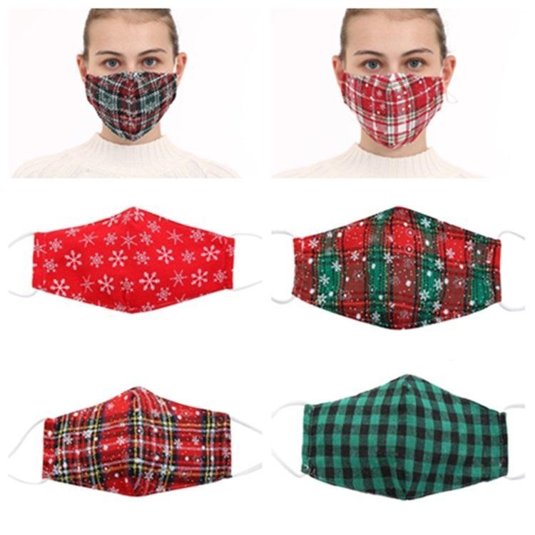 Европейские и американские дышащие рождественские Лицевые маски пыли и предотвращения дымка регулируемые Plaid маски Дизайнерские маски T2I51579