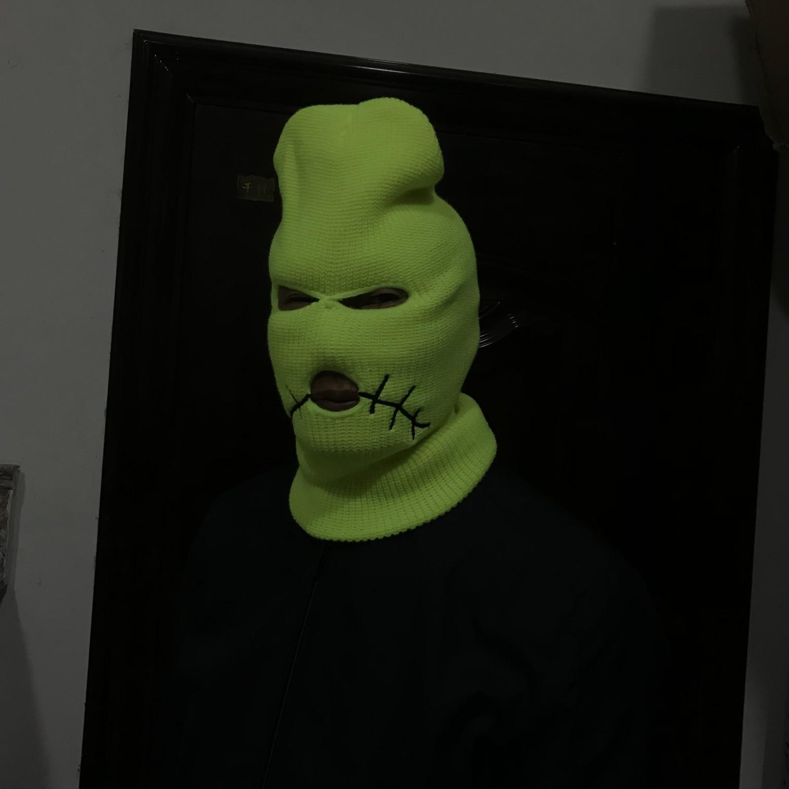 Jack Neon Balaclava Chapeau couverture d'hiver Masque Caps vert Halloween pour Party Moto Vélo Ski Vélo Beanies