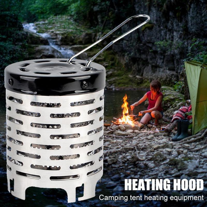 Mini chauffe-eau Nouvelle place Far infrarouge Voyage extérieur Équipement de camping Warmer Tente Pêche Chauffage Chauffage Capuchon Couvercle NY042