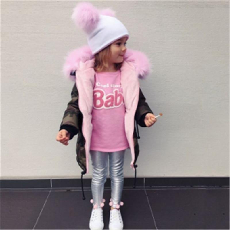 Новый зимний розовый камуфляж детская девочка одежда с капюшоном девочек малышей девушки одежда девушка молния пальто длинное пальто для девочек Parker 201127